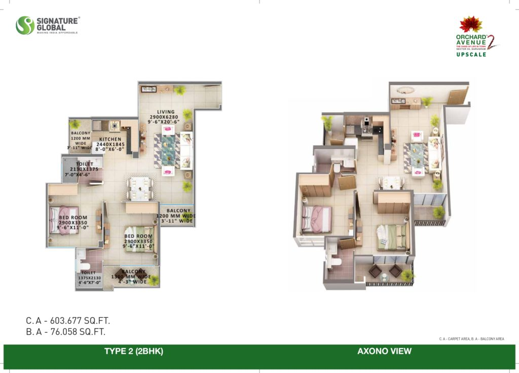 2BHK Type-2 Orchard avenue 2