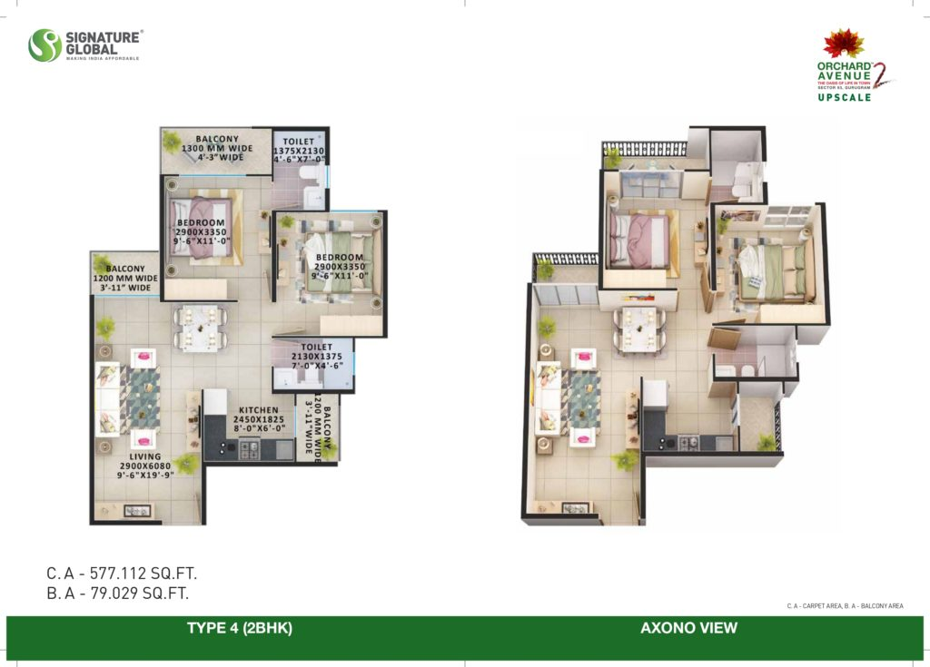 2BHK Type-4 Orchard avenue 2