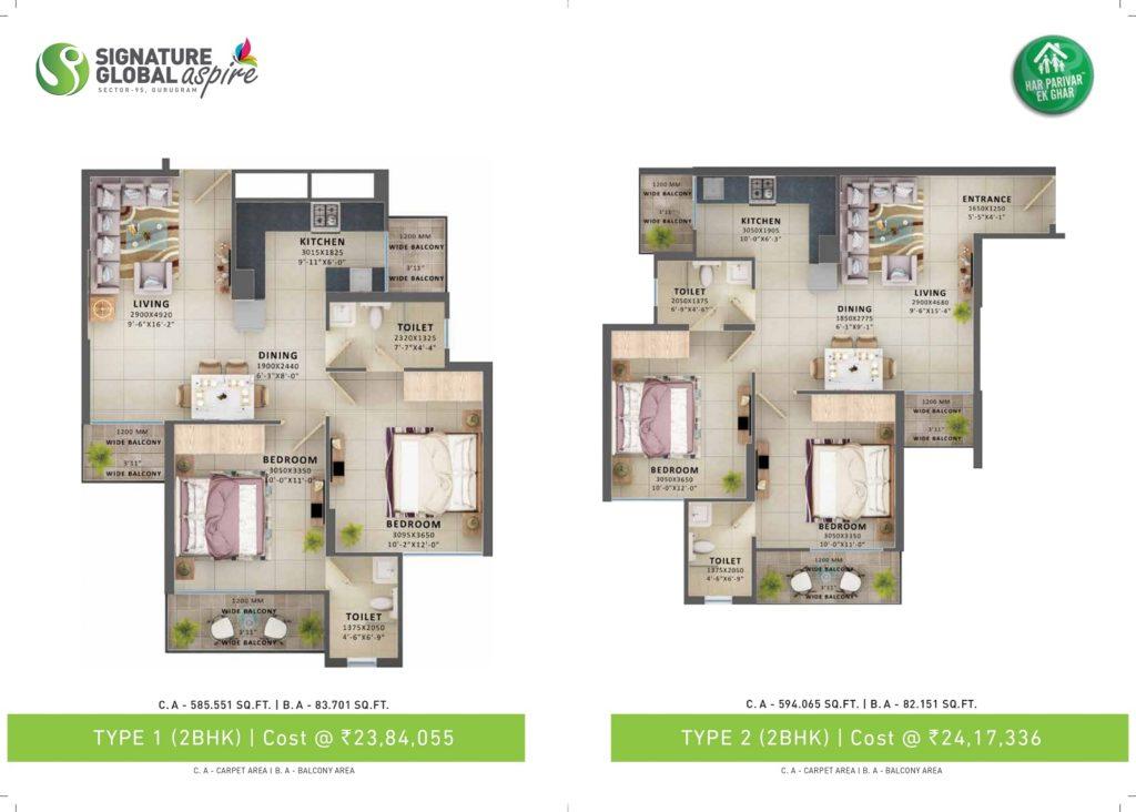 Signature Aspire Floor Plan Type 1& 2