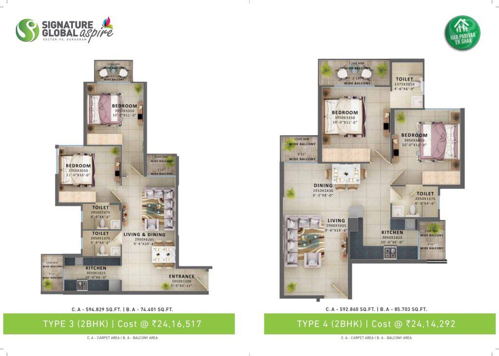 Signature Aspire Floor Plan Type 3 & 4