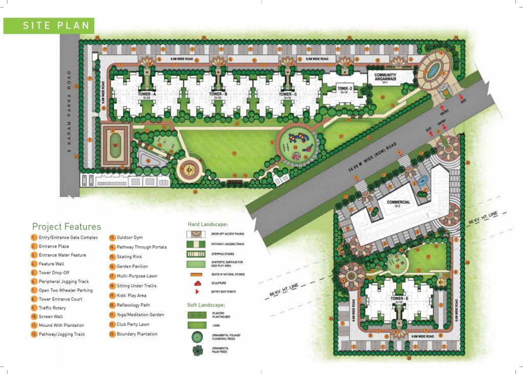 Site Plan Signature Global Aspire Sector 95 Gurgaon