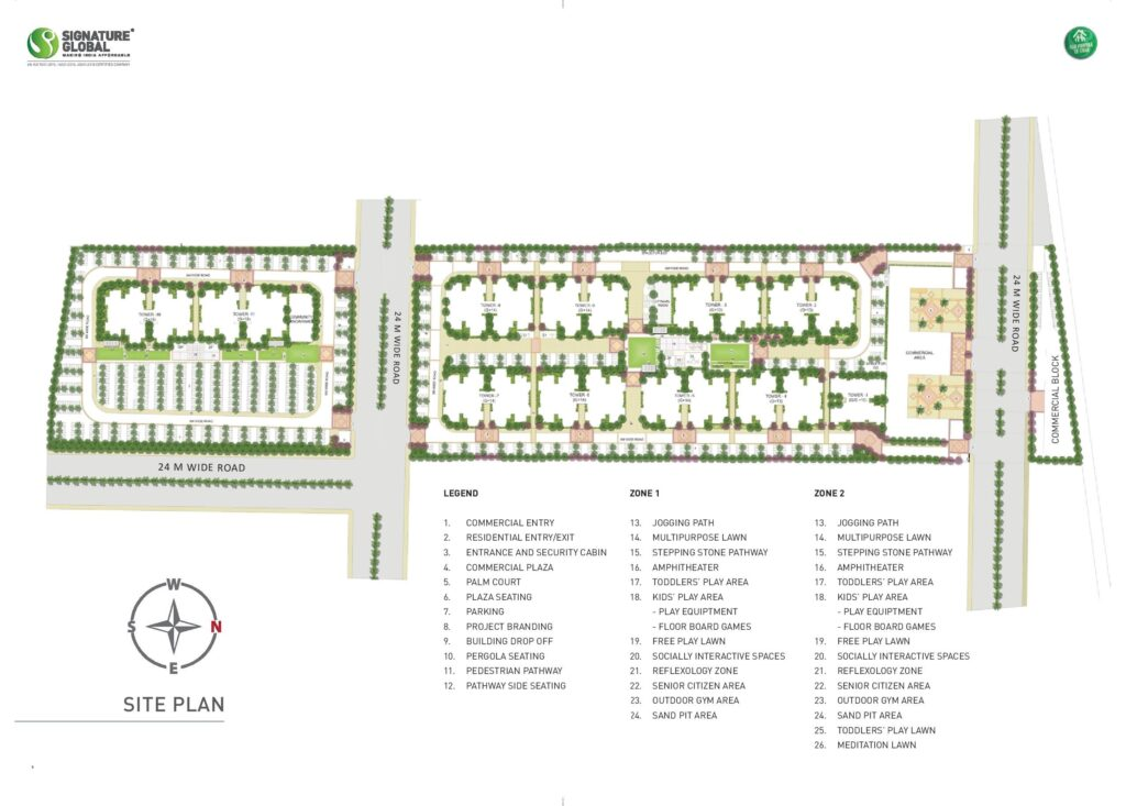 Site Plan Signature Global Millennia 3 Sector 37D Gurugram
