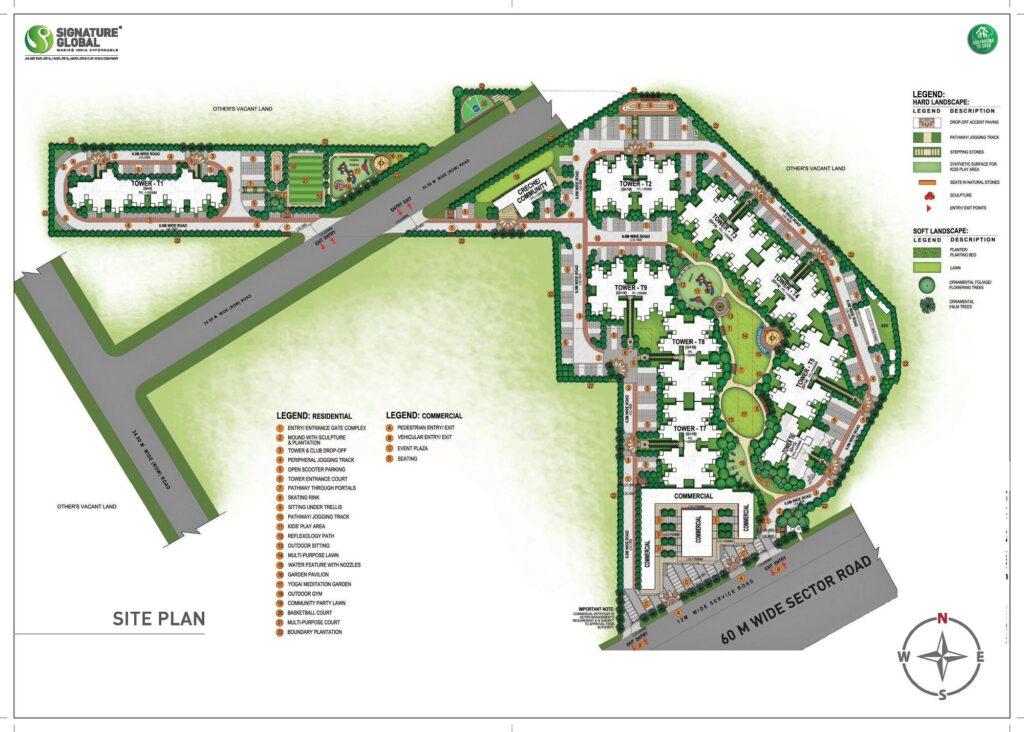 Site Plan Signature Global Superbia Sector 95 Gurgaon