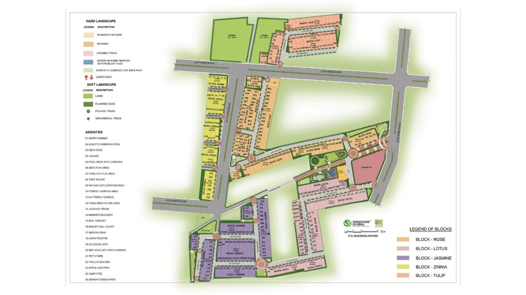 Site Plan Signature Global City 37D Gurugram